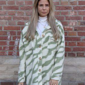 zebra jas pastel groen dames jassen