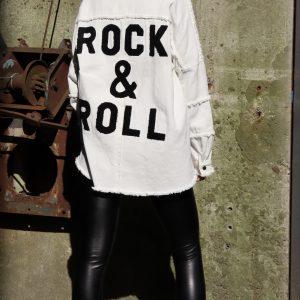 rock & roll jas wit