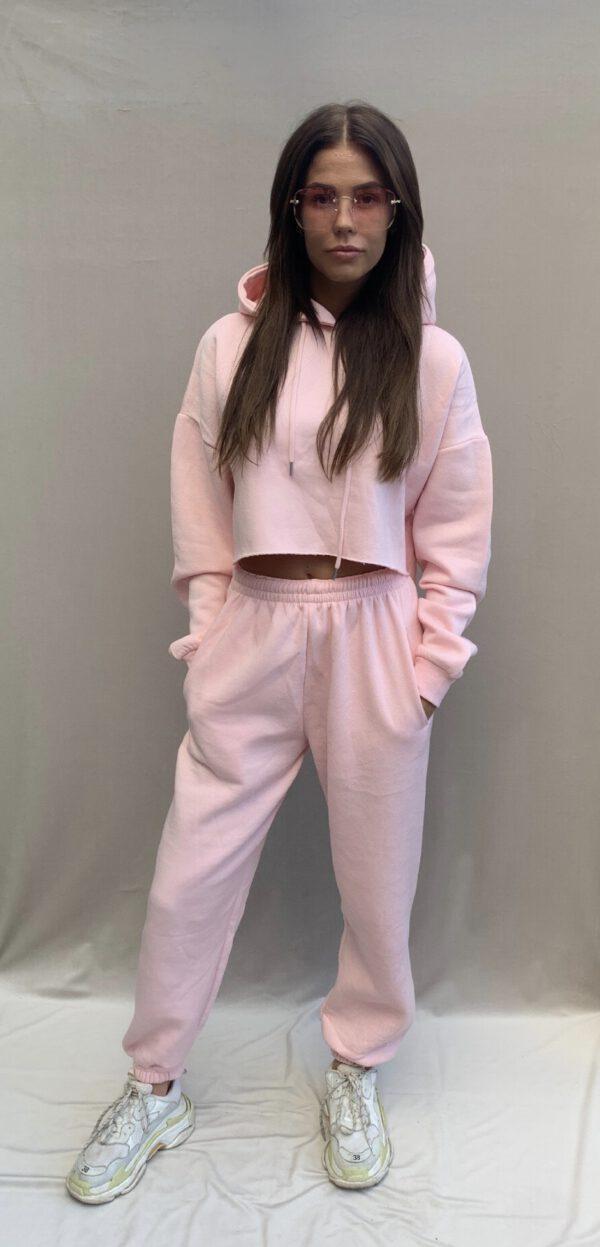 Bellevue fashion JOGGERS 2 PIECE SET LIGHT roze